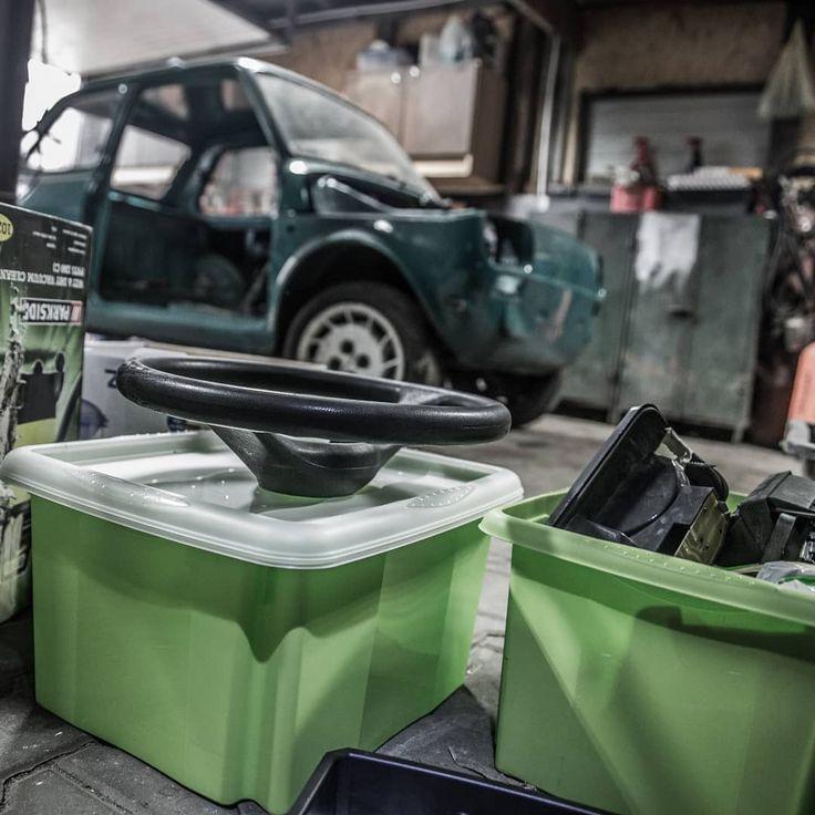 In the garage  #126powodówdoszczęścia #hobby #project #garage #parts #mechanic #build #tuning #custom #vintage #classics #classic #car #cars #auto #autos #automotive #fiat #fiat126p #maluch #Poland #polska #instaphotos #chillout #chill #familytime #time