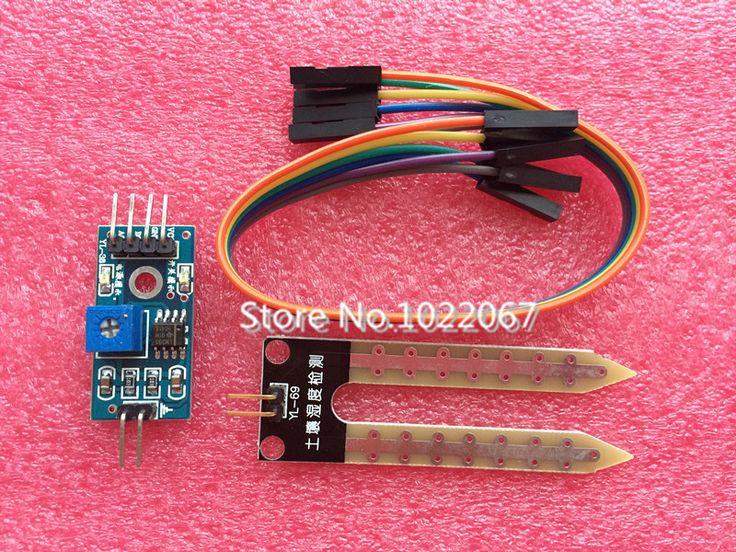 5set/lot soil the hygrometer detection module robot intelligent car soil moisture sensor for arduino