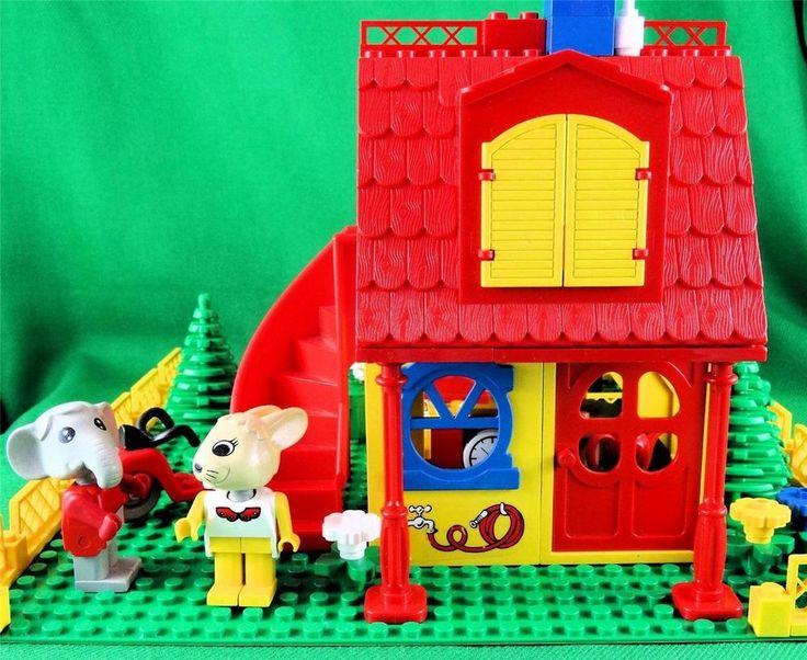 Vintage 1987 Lego Fabuland 3674 Bonny Bunny s New House -ENHANCED LOTS of EXTRAS