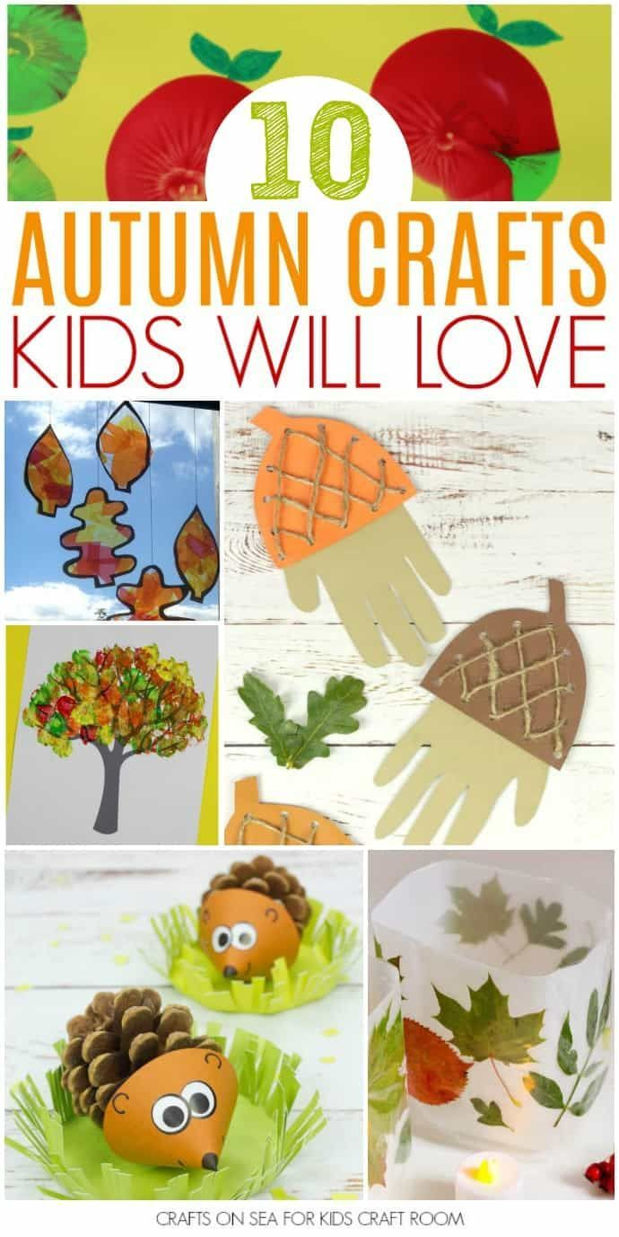 10 Easy Autumn Crafts For Kids Fall Crafts For Kids Easy Fall