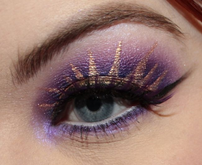 so pretty! makeup inspired by Tangled :]