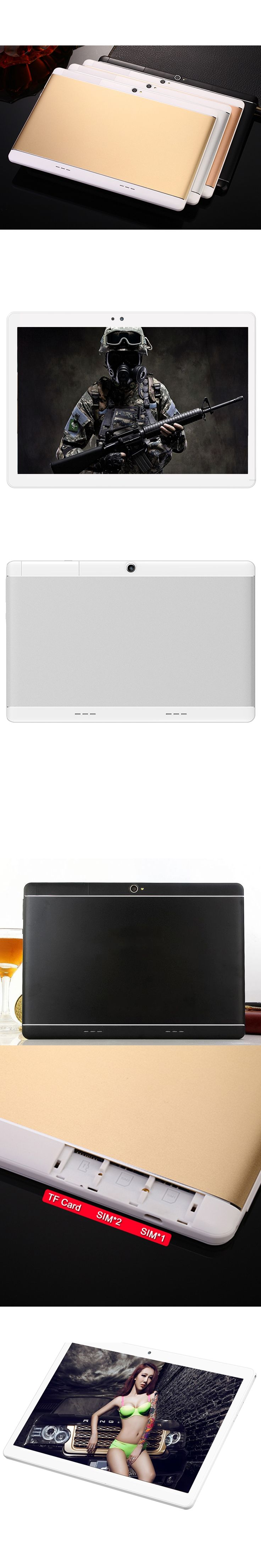 10.1 inch Original 4G Phone Call Dual SIM Card Android 7.0 Octa Core CE Brand WiFi FM Tablet pc 4GB+64GB 1920x1200 IPS Tablet Pc