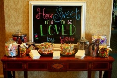 the title for the candy table