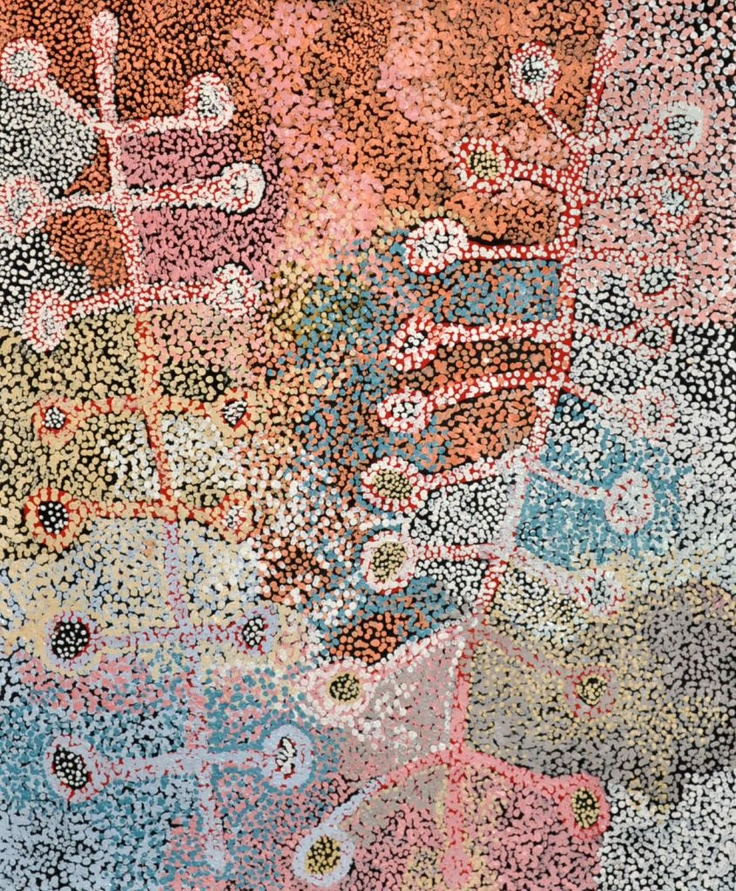 Tjala Arts, Tjampawa Katie Kawiny, Kaliny-kalinypa, Desert Grevillea, 2012