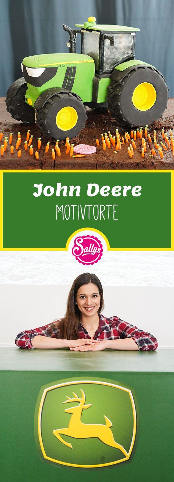 Zum 100. Geburtstag des John Deere Traktors habe ich eine 3D Motivtorte gebacken. Dieser steht auf einem Acker aus Mississippi Mud Pie.
