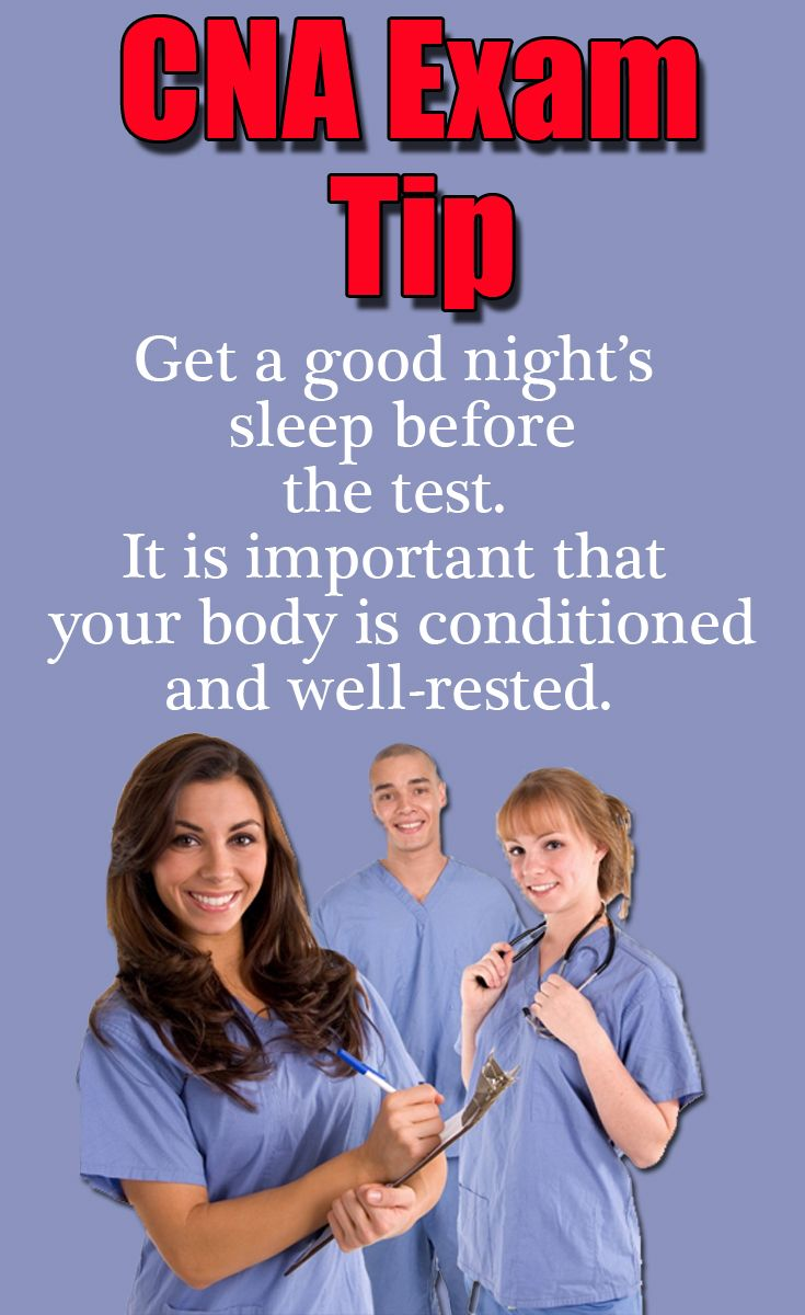32 best certified nurse assistant cna exam images on pinterest cna exam tip get a good nights sleep before the test it is important fandeluxe Gallery