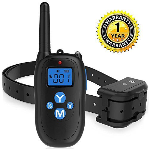ALZN Remote Controlled Dog Training Collar, 330 Yards Rechargeable and Waterproof IP67 Dog Shock Collar with Beep, Vibration and Shock Electronic Collar-All Size Dogs(7-26Inches) - The ALZN Dog Training Collar is more advanced than equivalent rechargeable dog collars on the market. This is the upgraded model of the older version. High-quality and Comfort: Upgraded 433MHZ Wireless Technology. The most Stable and Durable Upgraded on the market with Totally new Hardware and So...