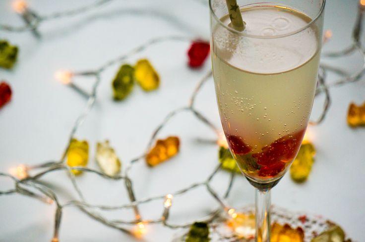 Voor oud en nieuw hebben wij geen kinderchampagne maar gummiberen champagne