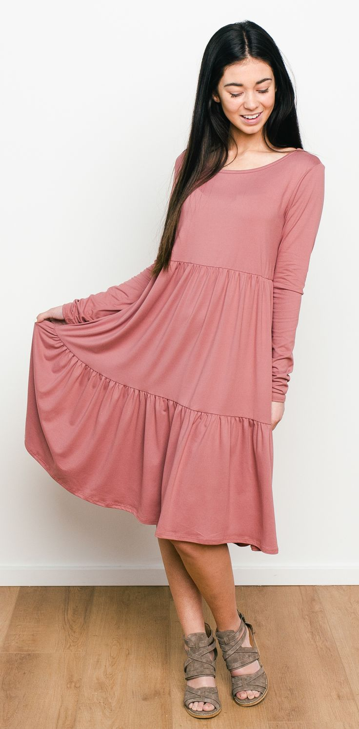 Miller Tiered Knit Dress - Muave