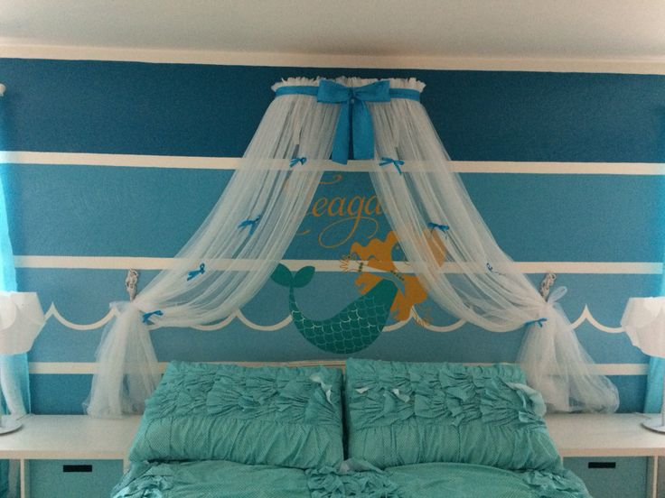 Princess Bed canopy CrOwN with curtains SaLe TuRqUoIsE Petite Bow FREE WHITE SHEERS by SoZoeyBoutique on & 241 best Bedroom images on Pinterest | Bed canopies Canopy for ...