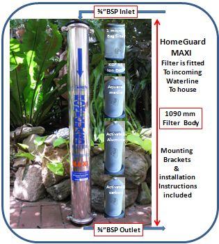 MAXI Homeguard Water Filter with Ion Exchange Element - GAPS Diet Australia Pty Ltd