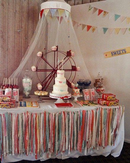 Sweet table cirque - Un anniversaire vintage sur le thème du cirque - Super déco DIY