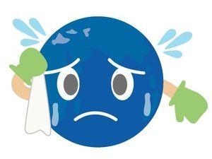 global warming  地球温暖化(汗をかく地球) : 環境問題のイラスト素材集【エコロジー】 - NAVER まとめ