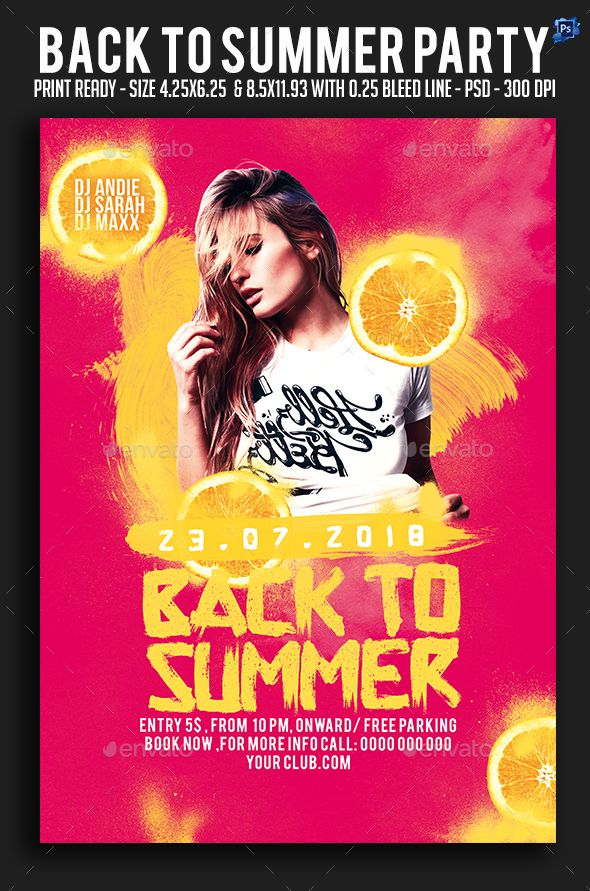 back to summer party flyer club parties summer parties flyer maker flyer free