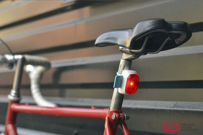 Velodroom's Smart Bicycle Light by Velodroom — Kickstarter. The light switches on by itself when you go for a ride, adjusts to ambient light level and flashes a bright stop-light while braking.