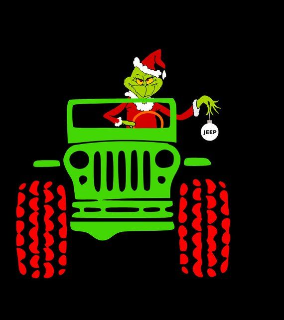 Dr Suess The Grinch In A Jeep Svg Jeep Stickers Jeep