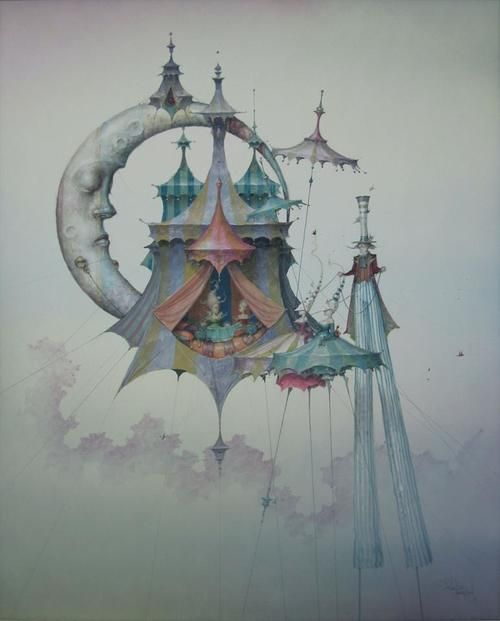 light0fthemoon:  Daniel Merriam - Walking on Air ~Bienvenue sur le Cirque de la Nuit~