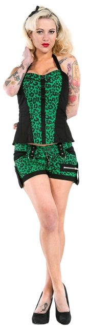 €34.90 Leopard Green-shortsit (M)