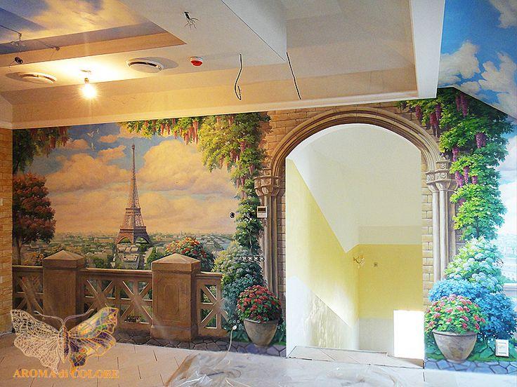 Роспись стен «Париж» / Студия Аромат цвета - Художественная роспись стен и…