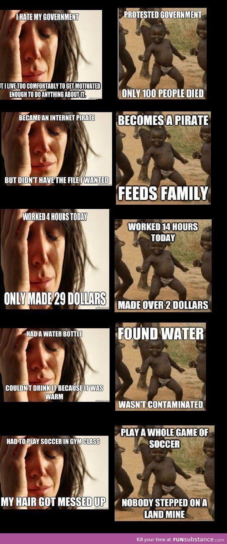 First world vs third world