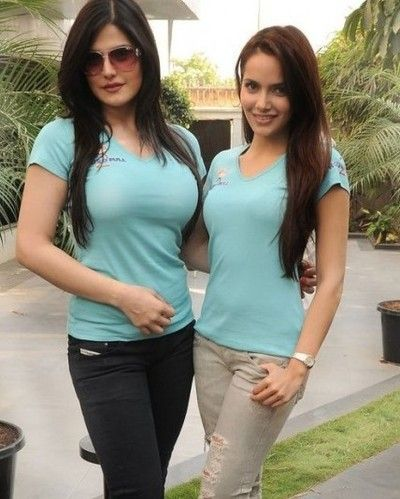 Zarine Khan With Shazahn Padamsee