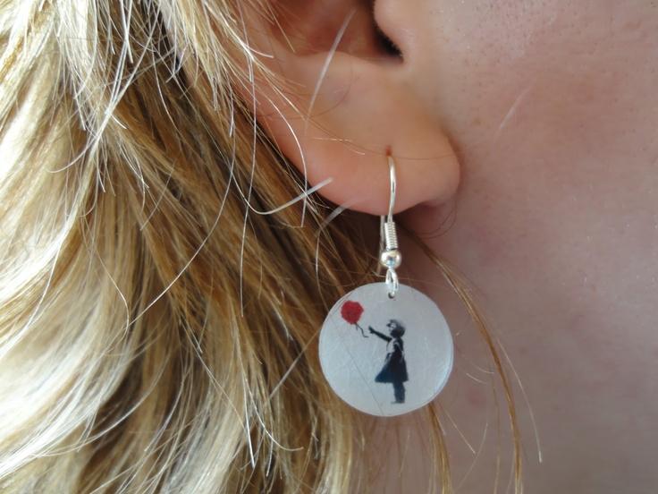 Banksy oorbellen