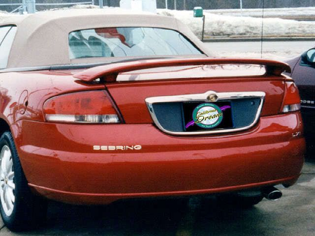Chrysler Sebring Convertible 2001 2006 Custom Style Spoiler