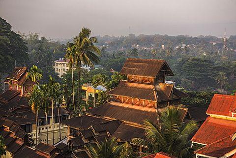 Kyaik Tan Lan Pagoda, the hill top temple in Mawlamyine, Mon State, Myanmar (Burma), Asia