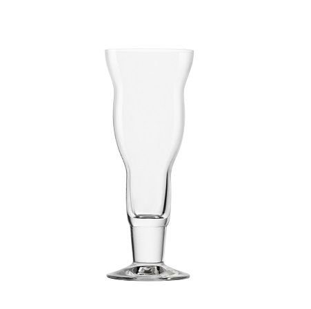 Oberglas Bar & Liquor Collection- Rumba  The Rumba glass from Oberglas features a funky, wavy design and is characterized by its versatility. It can be used for serving delicious iced coffees as well as fun fruity cocktails and homemade iced teas. This line features brilliantly-clear, lead-free crystal designs that embody the high quality and innovation synonymous with OBERGLAS.  Capacity: 14.75oz