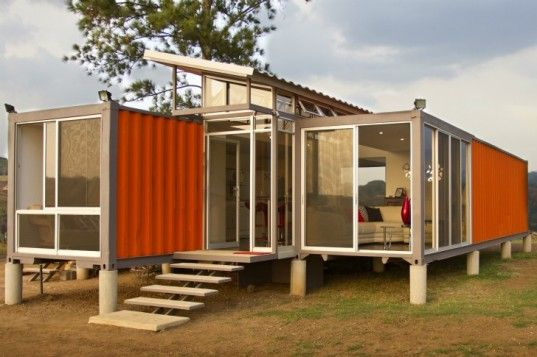 For only $40000 you get a 5-room house made of discarded shipping containers. I guess I'll have to move back homeContainer Homes, Mobiles Home, Container Houses, Costa Rica, Ships Container House, Ships Container Home, Shipping Containers, Storage Container,  Manufactured Home