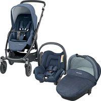 Pack poussette trio stella citi compacte nomad blue
