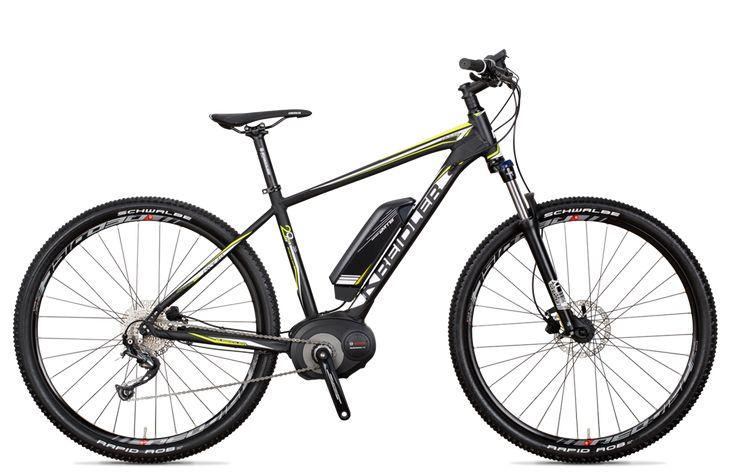 Vitality Dice 29er Shimano Alivio 9-Gang - Das 21 Kilo leichte Dice E-Bike bietet eine Alivio 9-Gang-Schaltung von Shimano und eine rundum solide Ausstattung, z.B. eine leistungsfähige Suntour-Federgabel mit 100mm Federweg oder die erstklassige Bereifung von Schwalbe. #kreidler #ebike