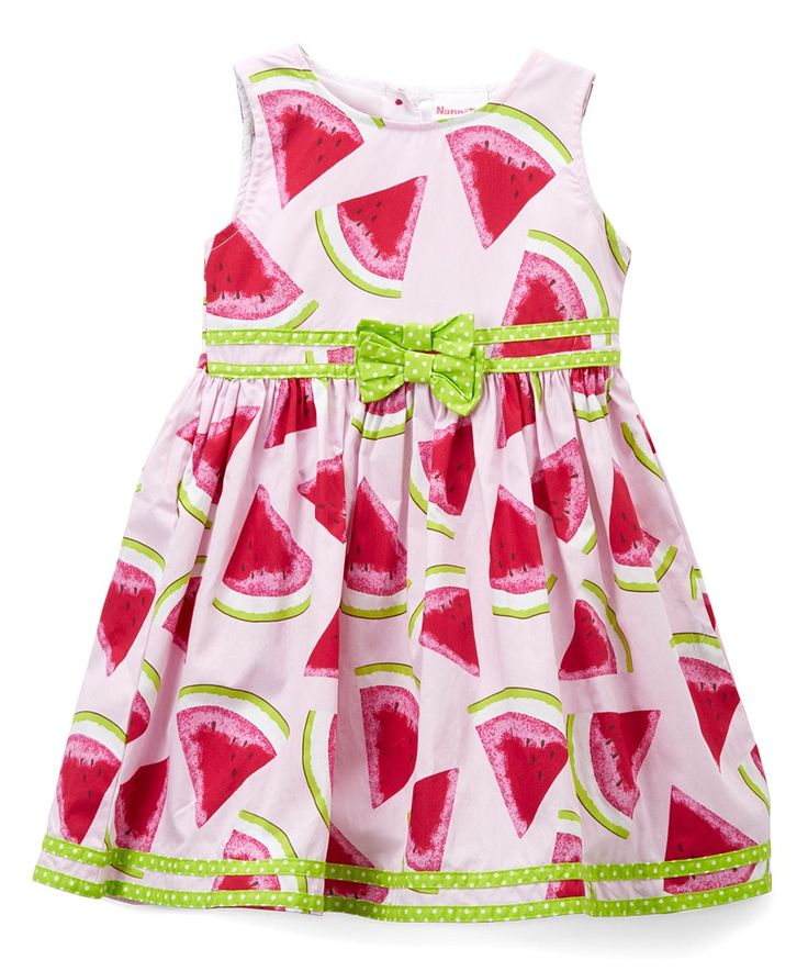 Take a look at this White & Pink Watermelon Dress & Diaper Cover - Infant & Toddler today!