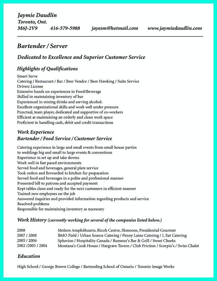 173 best Resume images on Pinterest Resume ideas, Resume tips - server on resume