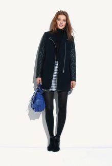 Manteau femme bi-matière marine - Promod 109,95€