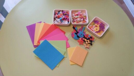 Foam Shapes and Letter Art Invitation