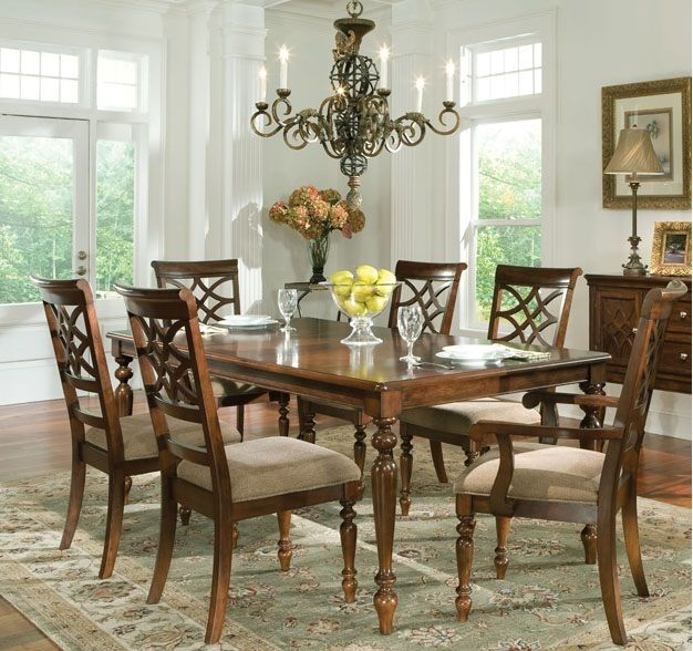 Formal Dining Room Sets | Formal Dining Room Table Set Crafton Std 19181  Woodmont Formal Dining