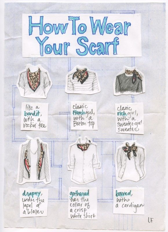 How to: wear your scarf #summerstyle