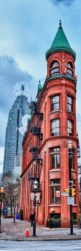 Toronto's landmark Flat Iron or Gooderham Building.