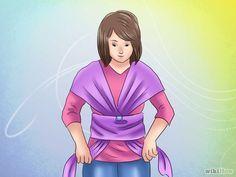 Cómo hacer un fular elástico para bebé: 13 pasos