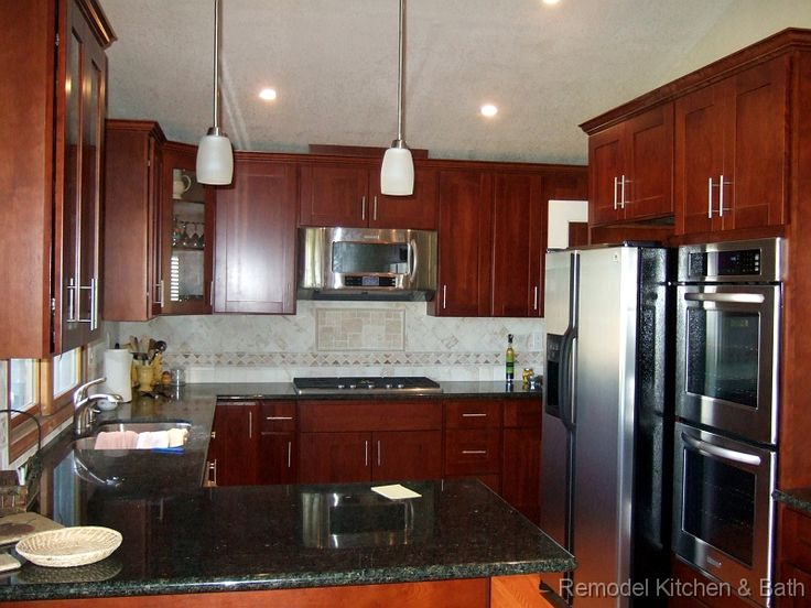 Our Latest Kitchen Remodel Custom Cherry Cabinets Uba Tuba