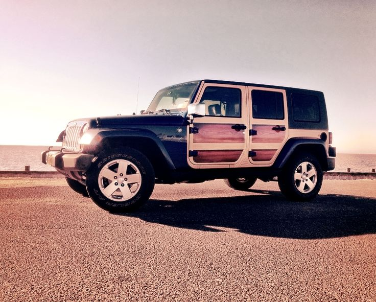 Jeep Wrangler Woody Custom Vinyl Wrap Wood Panels