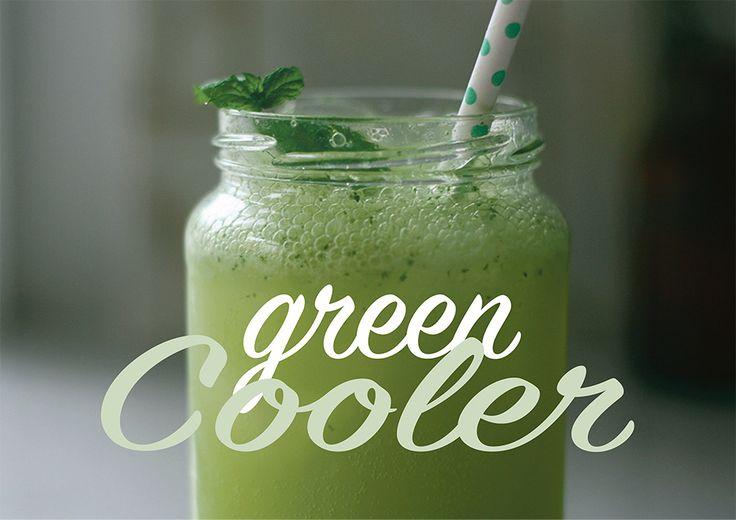 Alkoholfri læskedrik med agurk, citron, dasnkvand og mynte - tryk på billedet for at gå til gratis opskrift