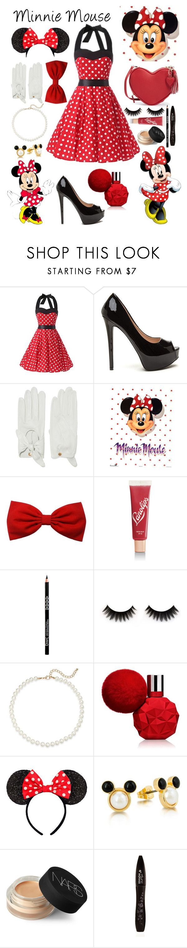 """Minnie Mouse"" by lexisamskywalker on Polyvore featuring Causse, Lano, Saks Fifth Avenue, Disney, NARS Cosmetics and Lancôme"
