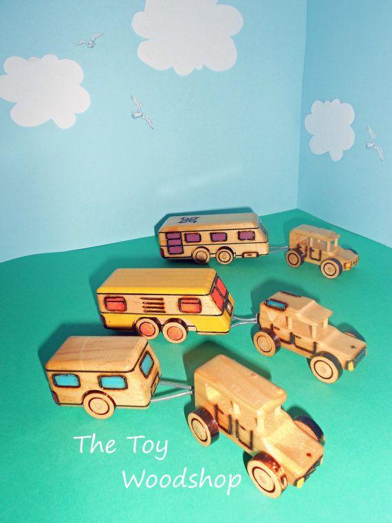 Planning a trip? Mini Caravan & Sedan  Extra Large rear by TheToyWoodshop on Etsy, $20.00