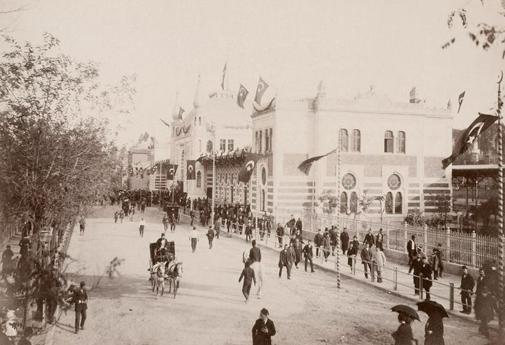 SIRKECI TRAIN STATION IN THE PERIOD OF SULTAN ABDULHAMID II, ISTANBUL, 1890