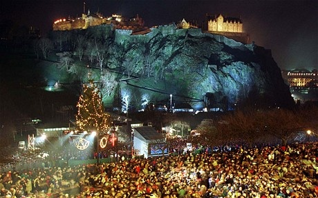 Edinburgh Castle during Hogmanay Been there!  New Year's Eve 2012