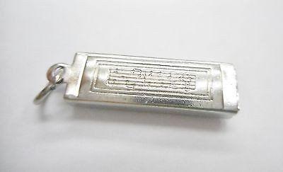Genuine 925 Sterling Silver Harmonica Charm ~ Music Instrument ~ #2760