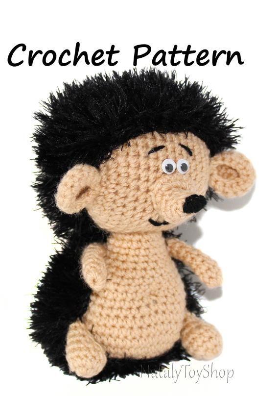 Amigurumi pattern hedgehog toy Crochet pattern hedgehog Crochet pattern crew cut Amigurumi pattern crew cut Animal pattern easy Instruction