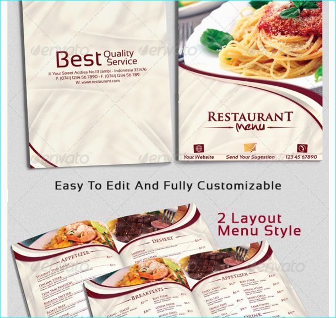 21 best 20 Tasteful \ Beautifully Designed Restaurant Menu - sample menu template